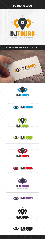 DJ Tours Logo Template