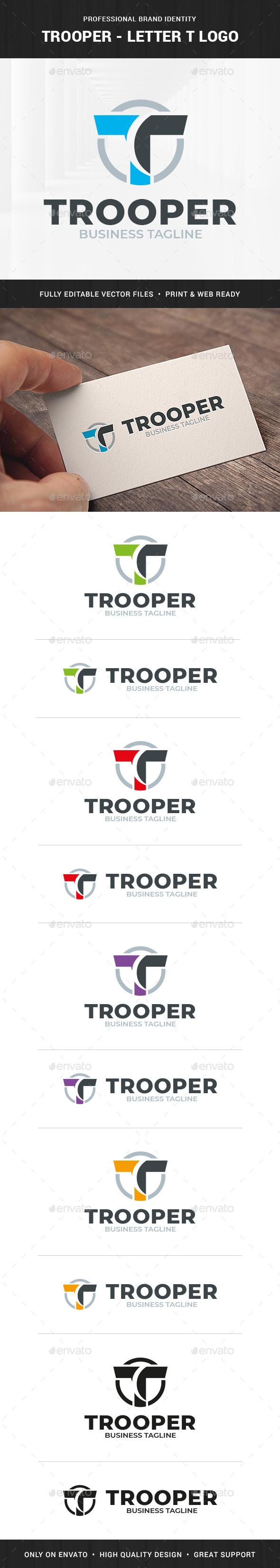 Trooper - Letter T Logo Template