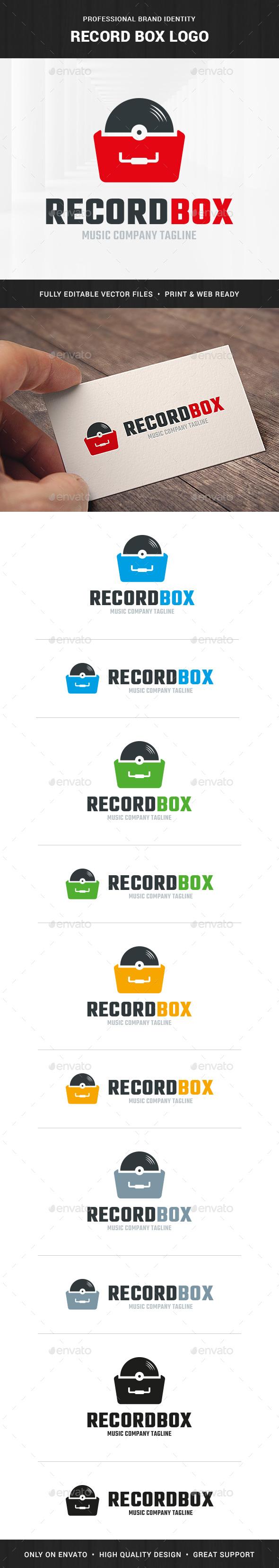 Record Box Logo Template