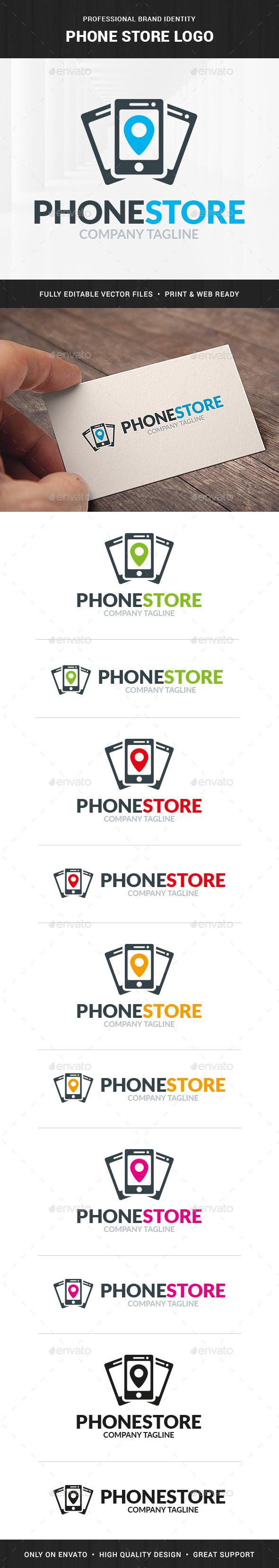 Phone Store Logo Template