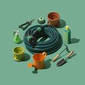Gardening and horticulture tools collection - PhotoDune Item for Sale