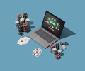 Playing Texas hold 'em poker online - PhotoDune Item for Sale