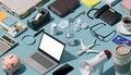 Messy disorganized desktop - PhotoDune Item for Sale