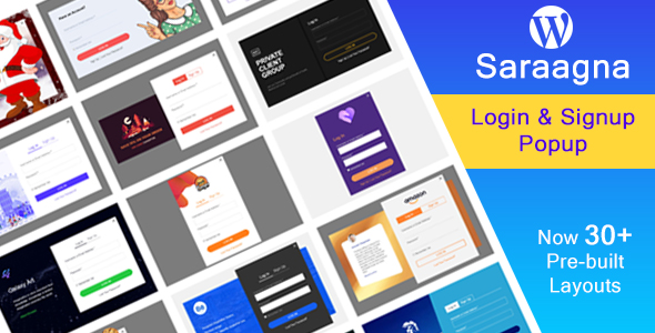 Saraagna | WordPress Login - Registration Popup Plugin