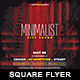 Minimalist City Sound - Square Flyer - GraphicRiver Item for Sale