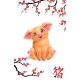 Pig and Oriental Cherry Branch - GraphicRiver Item for Sale