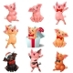 Set Joyful, Cute and Lovely Pigs on White - GraphicRiver Item for Sale