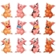 Set Lovely Pigs with Bow and Cap on White - GraphicRiver Item for Sale