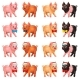 Set Playful Pigs with Bow and Cap - GraphicRiver Item for Sale
