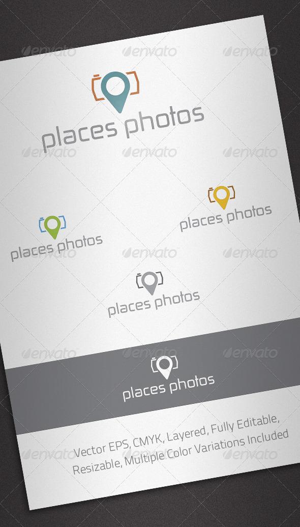Places Photos Logo Template