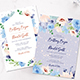 Fleur Watercolor Wedding Invitation - GraphicRiver Item for Sale