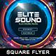 Elite Sound - Square Flyer - GraphicRiver Item for Sale