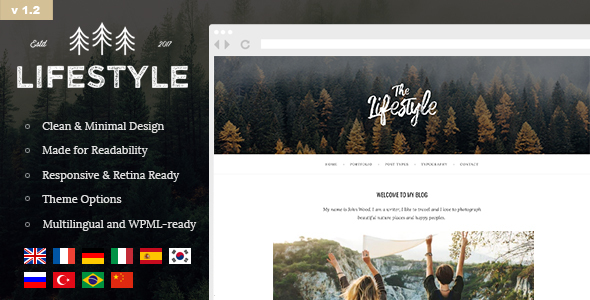 The Lifestyle - Vintage & Simple WordPress Blog Theme