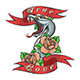 Tattoo of Snake in Rose Flowers and Lettering True Love - GraphicRiver Item for Sale