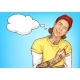 Hipster Tattooed Guy Showing Rock and Roll Sign - GraphicRiver Item for Sale