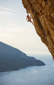 Young female rock climber on challenging route  - PhotoDune Item for Sale