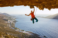 Male rock climber on challenging route  - PhotoDune Item for Sale