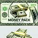 3D Money Stacks & Falling Money - GraphicRiver Item for Sale