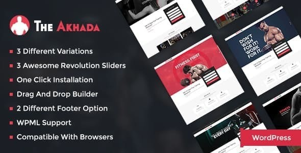 The Akhada Fitness Wordpress theme