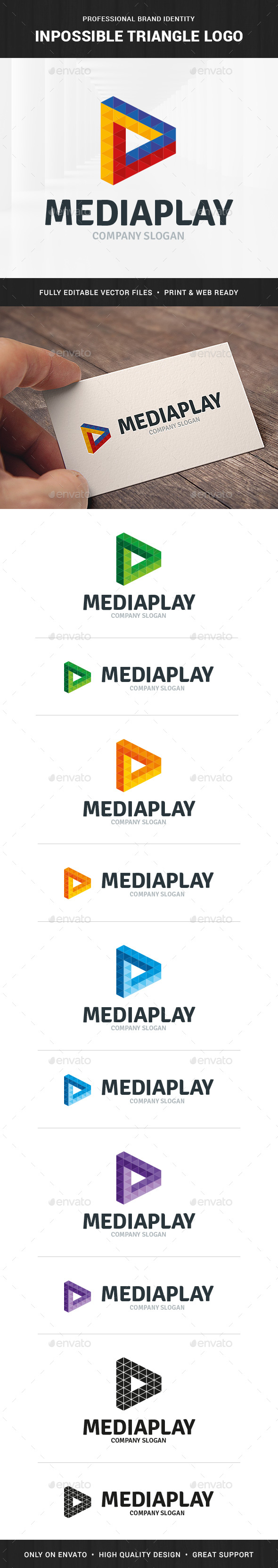 Impossible Triangle Logo Template