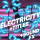 Electricity Elements And Titles | Premiere Pro MOGRT - VideoHive Item for Sale