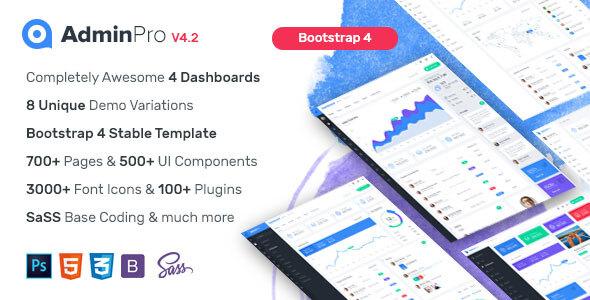 AdminPro - Bootstrap4 Admin Dashboard Template