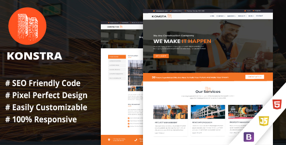 Konstra - Construction Template for Architect and Construction