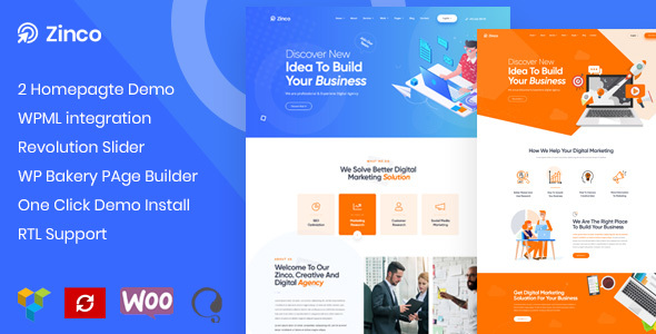 Zinco - SEO Marketing Agency WordPress Theme
