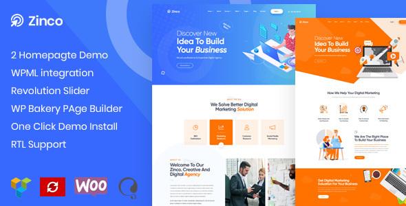 Zinco - SEO & Digital Marketing Agency WordPress