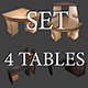 Set of 4 tables - 3DOcean Item for Sale