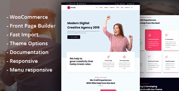 Creway - Creative Agency & Corporate WordPress Theme