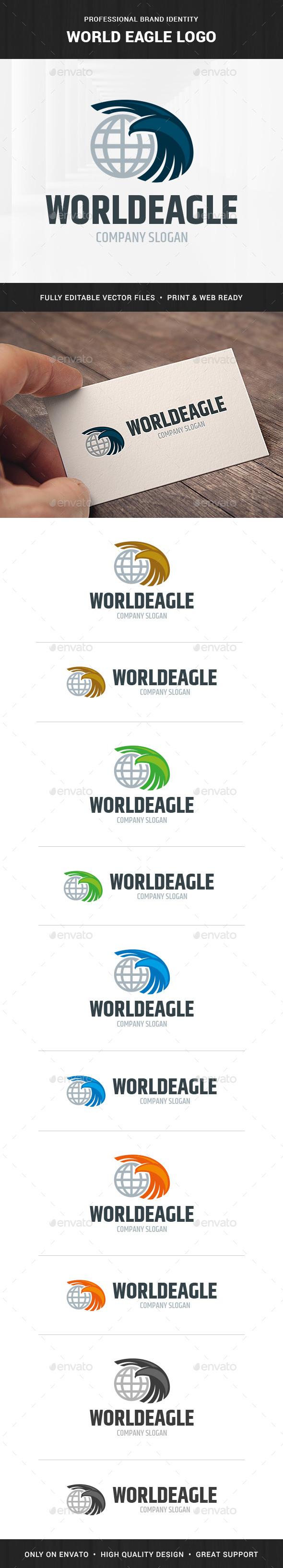 World Eagle Logo Template