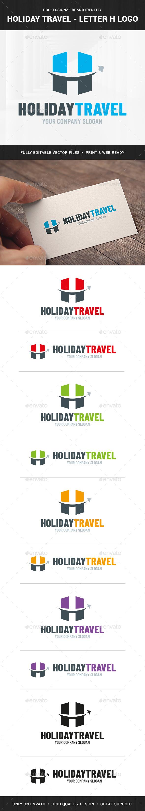 Holiday Travel - Letter H Logo