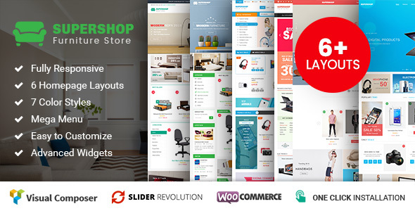 Supershop – Responsive WooCommerce Shopping WordPress Theme (6+ Homepage Layouts Ready) Free Download