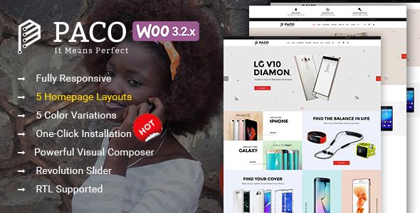 Paco - Responsive  Woocommerce WordPress Digital Theme 2