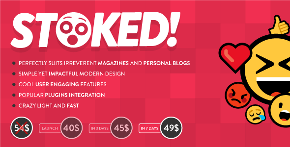Stoked! - Irreverent Viral Magazine/News and Personal Blog WordPress Theme