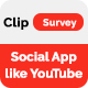 Clip Survey - Social App like Vimeo Video Review - CodeCanyon Item for Sale