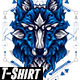 STARK WOLF GEOMETRY - GraphicRiver Item for Sale