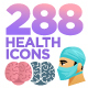 288 Health & Medical Icons - Colored & Solid - GraphicRiver Item for Sale