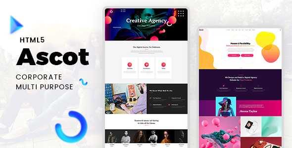 Ascot - One Page Corporate HTML Template