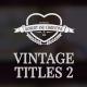 Vintage Romantic Wedding Titles Pack - VideoHive Item for Sale