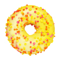 Yellow donut isolated on white - PhotoDune Item for Sale