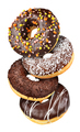 Group of chocolate donuts isolated - PhotoDune Item for Sale