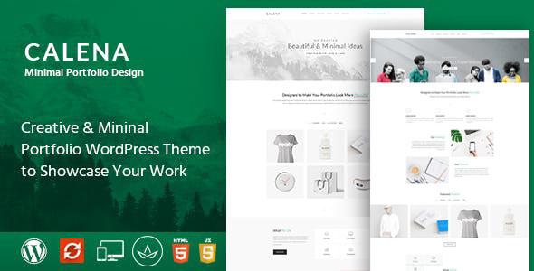 Calena – Minimal Multi-Purpose Portfolio WordPress Theme