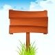 Wooden Sign Board on a Stick - GraphicRiver Item for Sale