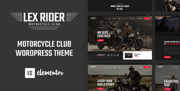 LexRider - Motorcycle Club WordPress Theme For Biker Lovers