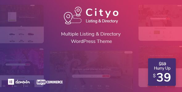 Cityo – Multiple Listing Directory WordPress Theme Free Download