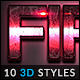 10 3D Styles vol. 21 - GraphicRiver Item for Sale