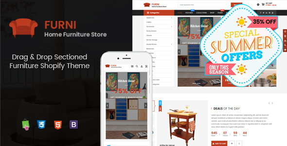 Furni - Multipurpose Sections Furniture Shopify Theme