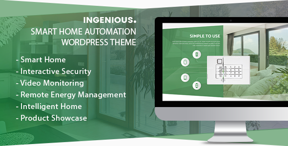 Ingenious - Smart Home Automation WordPress Theme